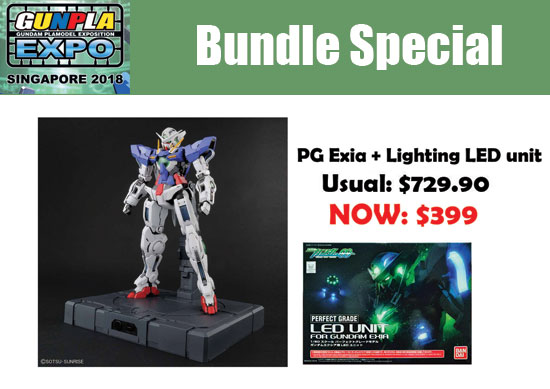 Gunpla Expo 2018 Singapore Perfect Grade Gundam Exia offers