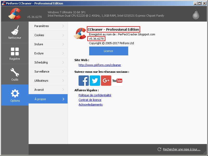 télécharger CCleaner professional v 5.36 crack
