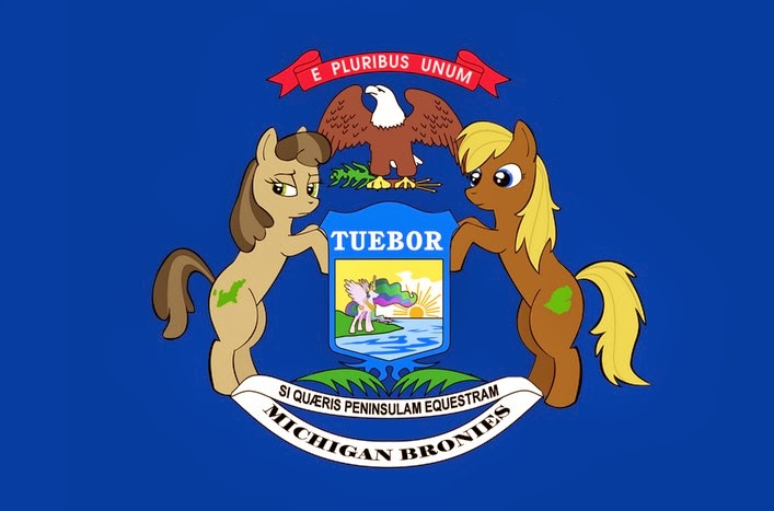 the voice of vexillology flags heraldry my little pony michigan flag by amazome the voice of vexillology flags heraldry blogger