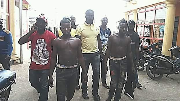Photos: Two security guards arrested for robbing phone shop, houses in Agbor, Delta state