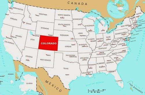 Colorado Nerede - Colorado Amerika Haritası AMERİKA BİRLEŞİK
