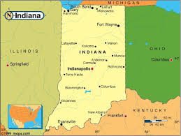 Caroles Chatter State Of The Month Indiana - Indiana on the map of usa