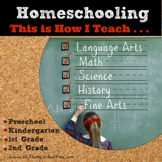 How I teach Homeschool - Preschool, Kindergarten, 1st Grade, 2nd Grade