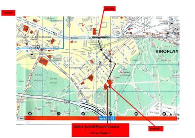 Plan Centre sportif Porchefontaines Versailles