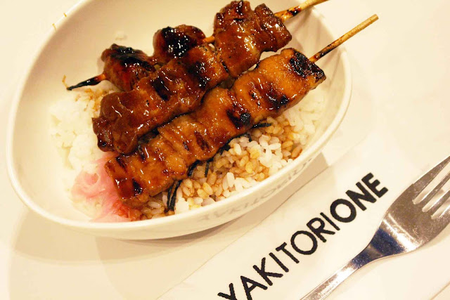 Yakitori One at SM Aura Premier pork butabara and asparagus pork wrap