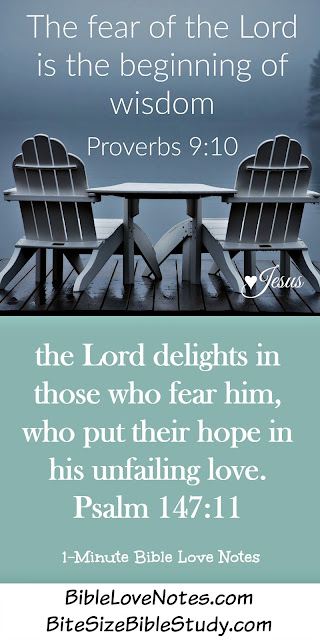 Proverbs 9:10, Fear the Lord