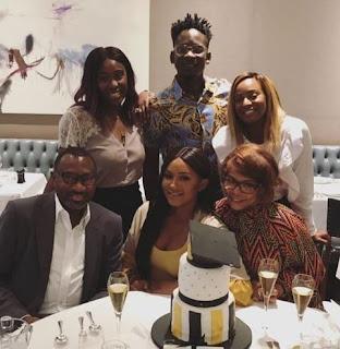 Mr Eazi, Nana, Femi Otedola and his family