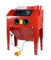 powder coating sandblasting cabinet with light and media reclaimer vacuum