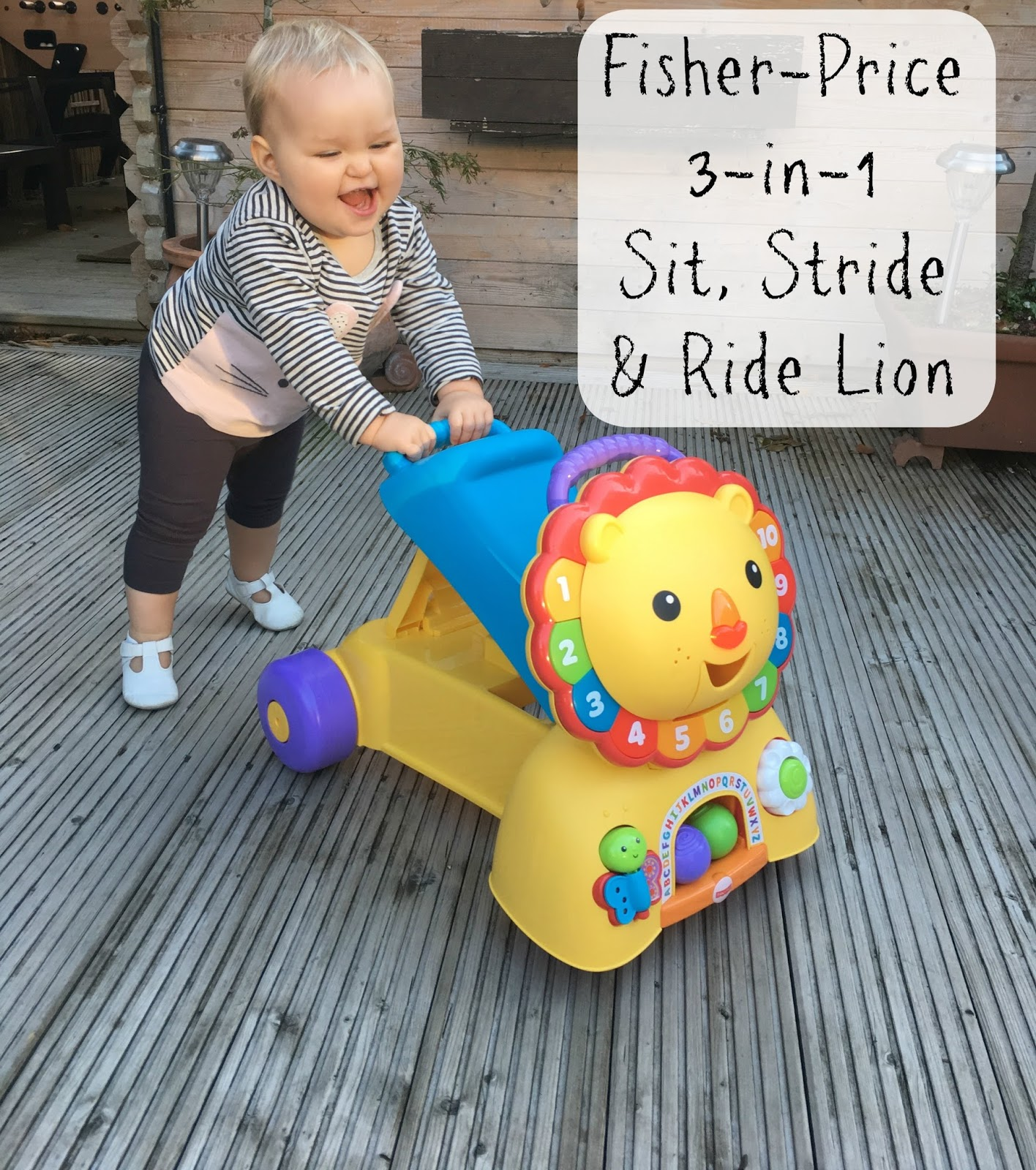 Review Fisher Price 3 in 1 Sit Stride & Ride Lion The
