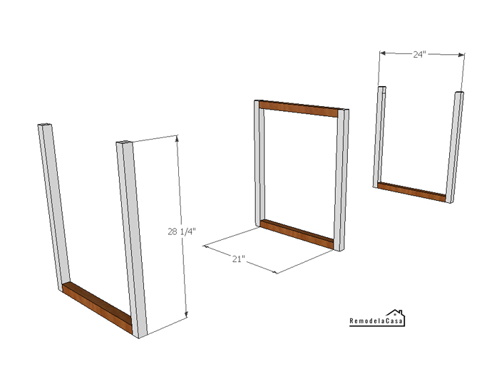 the legs of base for a desk - plans