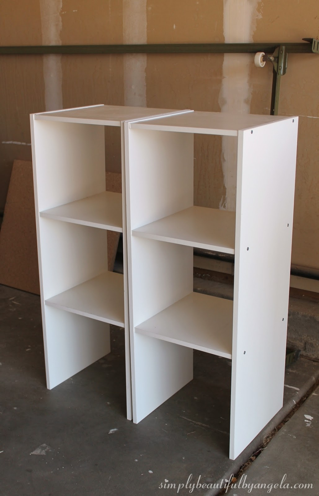 DIY Storage Cabinet Using Cheap Cube Units