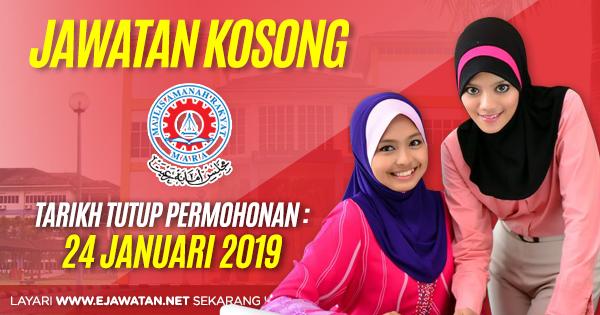 jawatan kosong Majlis Amanah Rakyat (MARA) 2019