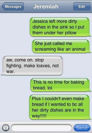 The Peacemaker | Funny iPhone Texts - Funny iPhone Fails And