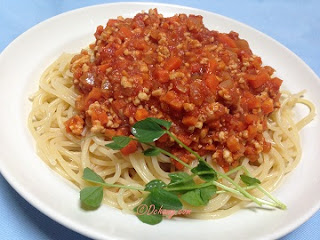 Meat sauce spagetti