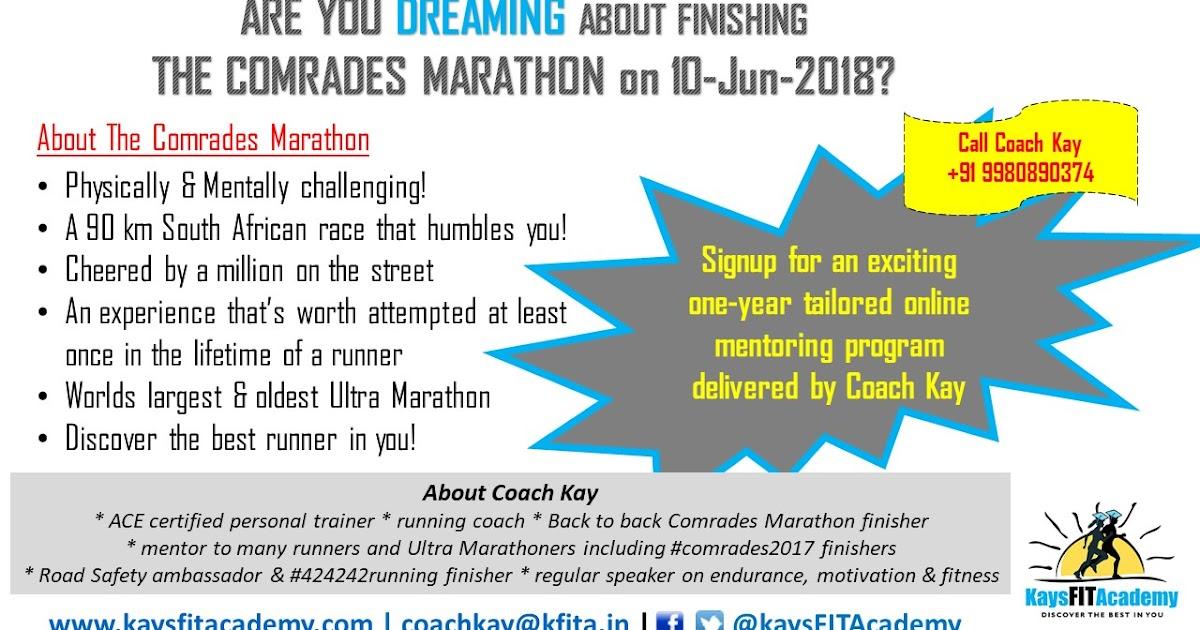 Coach Kays' FIT Academy: Comrades Marathon 2018 Training