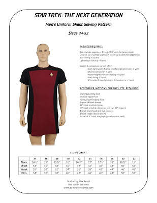 Men's TNG skant sewing pattern