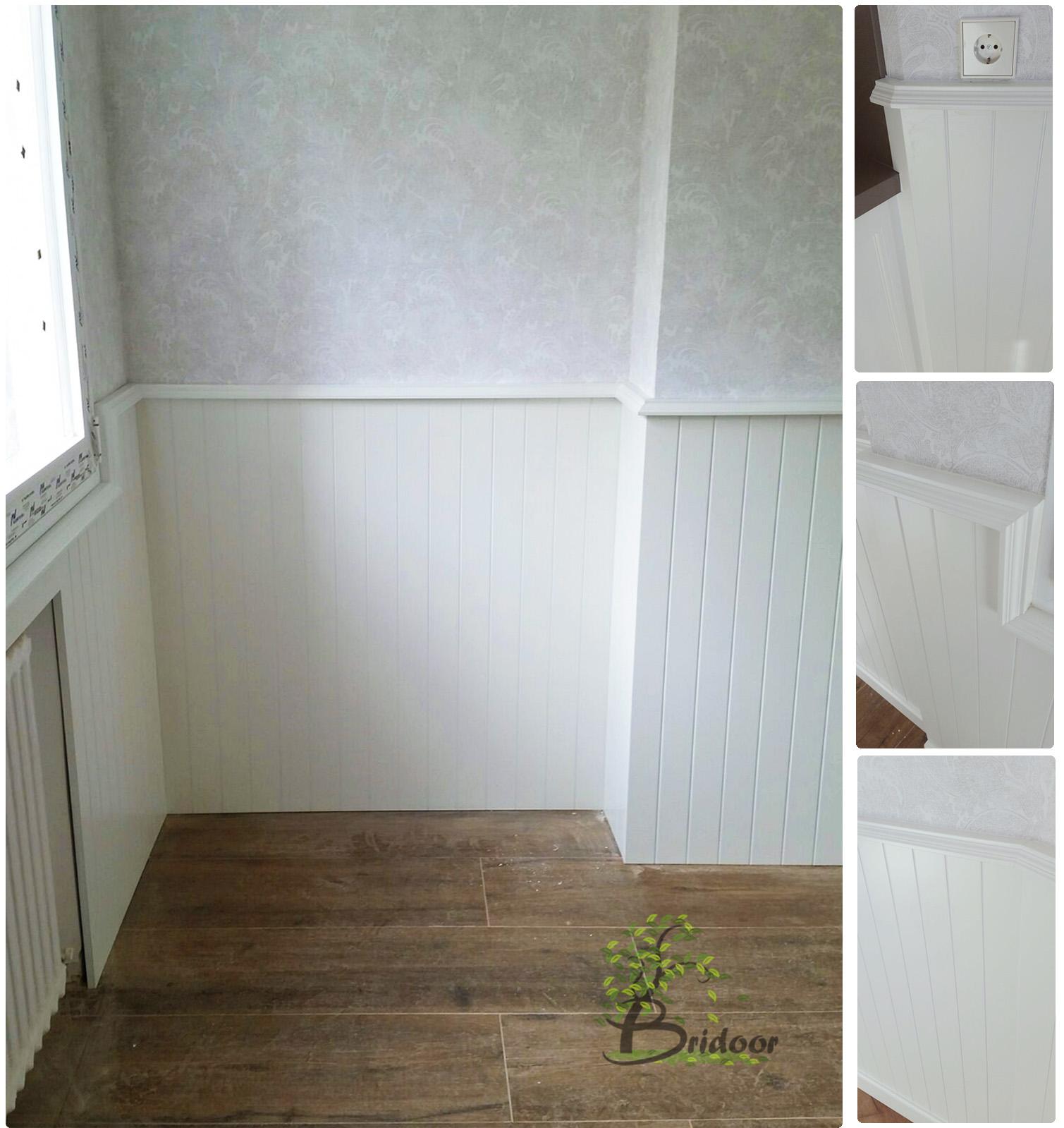 Bridoor s l vivienda con friso y puertas lacadas en chamart n for Friso madera pared
