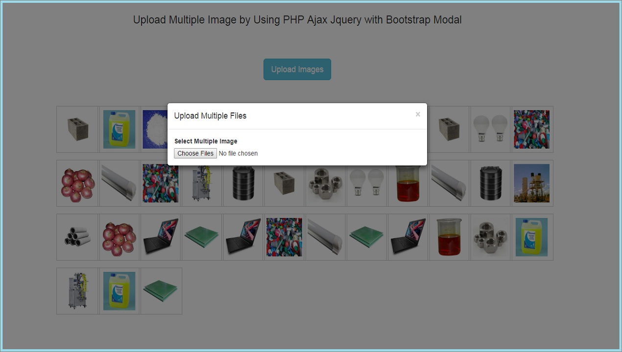 Upload Multiple Images by Using PHP Ajax Jquery with