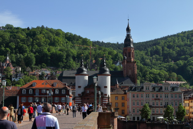 Walking the beautiful Karl Theodore Bridge of Heidelberg