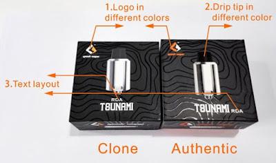 Perbedaan Rda Tsunami Clone dan Authentic