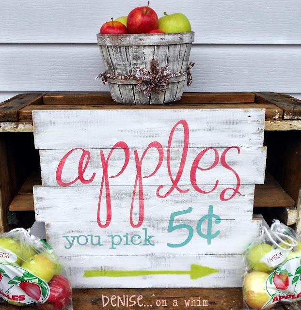Apples Pallet sign
