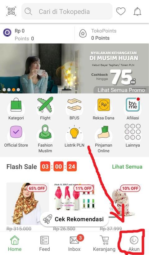 Cara Mencari Pembelian Yang Terdahulu Di Tokopedia Tutorial Di Tokopedia
