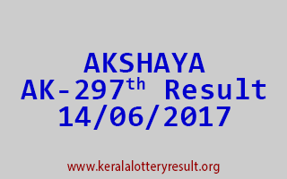 AKSHAYA Lottery AK 297 Results 14-6-2017