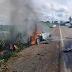 Uma pessoa morre após carro pegar fogo em batida na BR-153