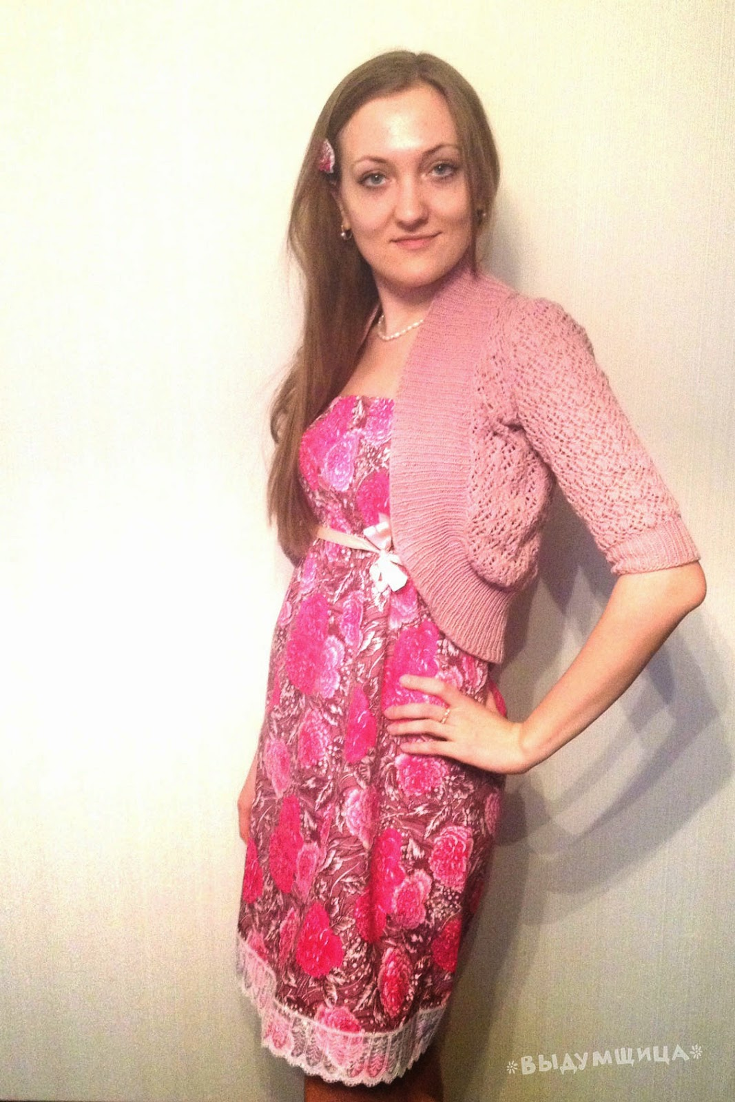 Домашнее платье в розочках