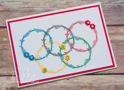 A Friendship Card Inspired By The Olympics.  Get the supplies to make this card here
