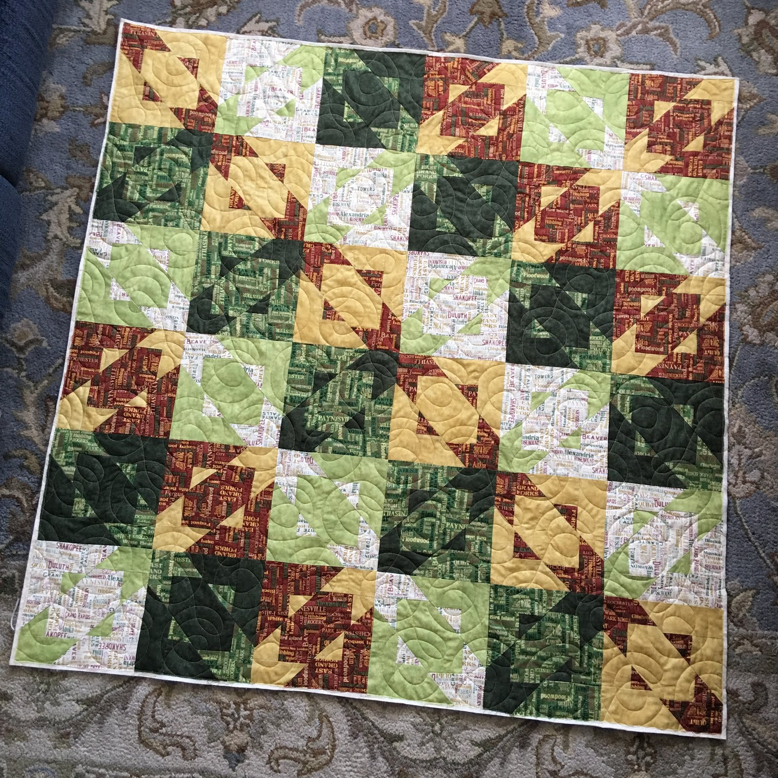 Grace And Peace Quilting Baby Quilt Modern Log Cabin