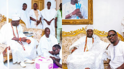 Photo of Pasuma and Ooni of Ife