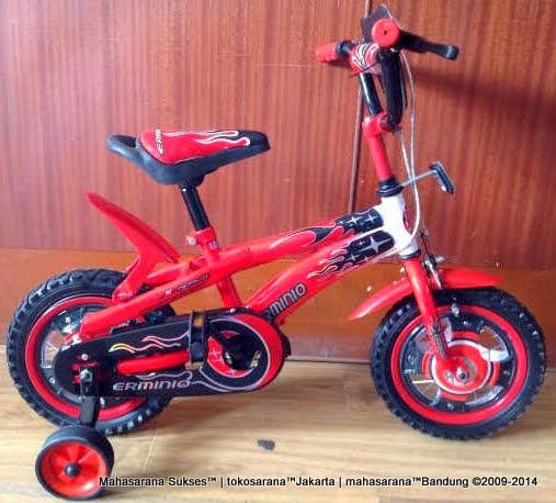 Sepeda Anak Erminio 1277 New 12 Inci