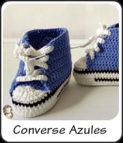Converse azules a crochet