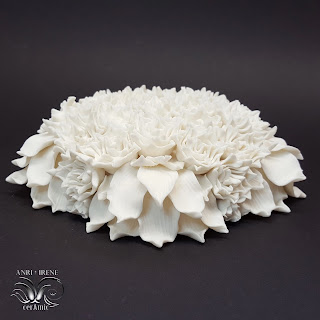Porcelain flowers for wall decor