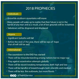 2018 Prophecies: Significant Goliaths Will Fall - Adeboye