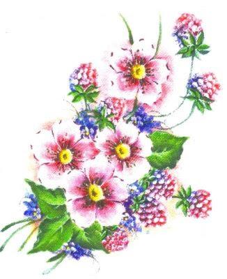 pano de prato flores e framboesas