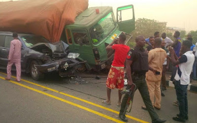 truck crushes father sons edo state