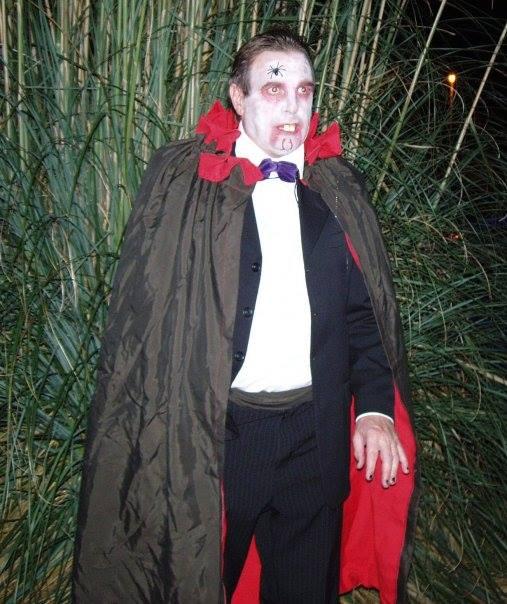 Jaymee's Dad Dressed as Dracula