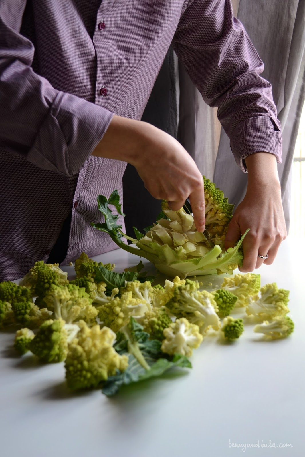 come pulire e cuocere il broccolo romanesco/ how to trim and cook roman cauliflower