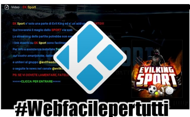 Evil king Sport Kodi Add-On | Il Meglio Dello Sport in Streaming Gratis Su Kodi