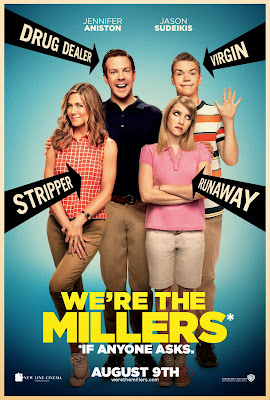 Poster Of Hollywood Film We're the Millers (2013) In 300MB Compressed Size PC Movie Free Download At worldfree4u.com