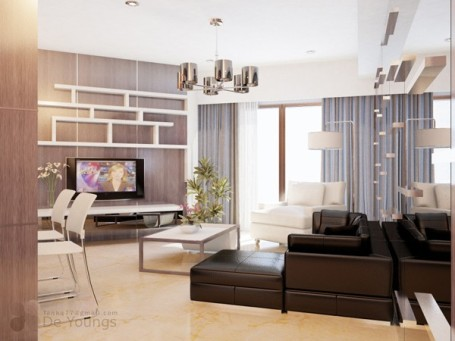 Với căn hộ có trần thấp thì khi bạn lựa chọn nội thất nên lưu ý đến sự tương quan của chúng