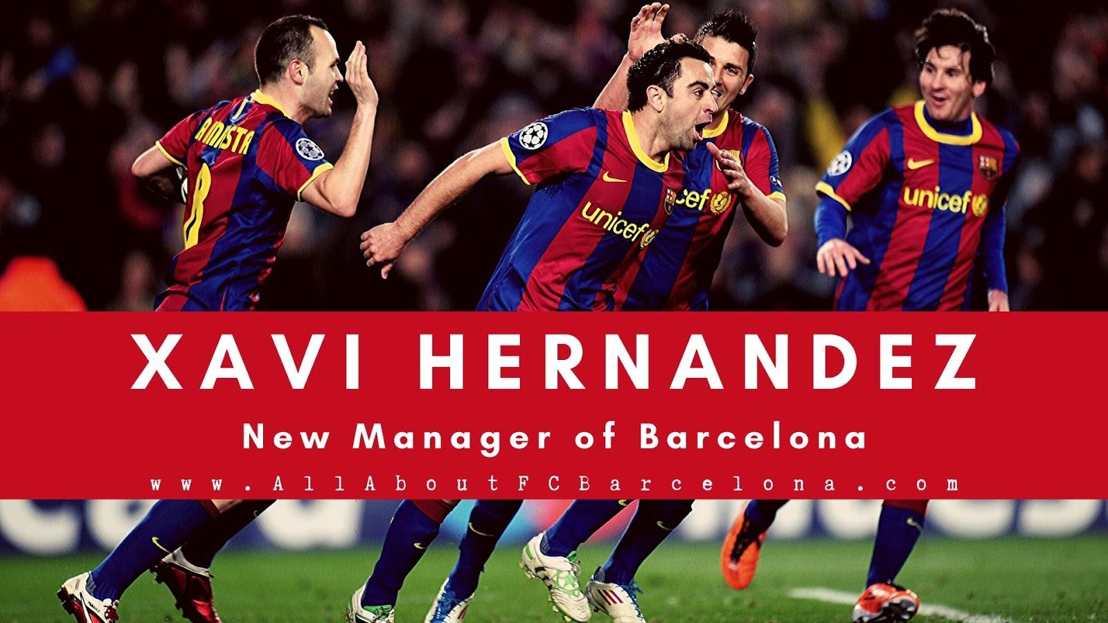 Barcelona Legend Xavi Hernandez To Be Announced As Coach Of Barcelona On Monday