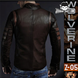 jas exclusive jaket kulit x men origins  wolverine (z 05) back