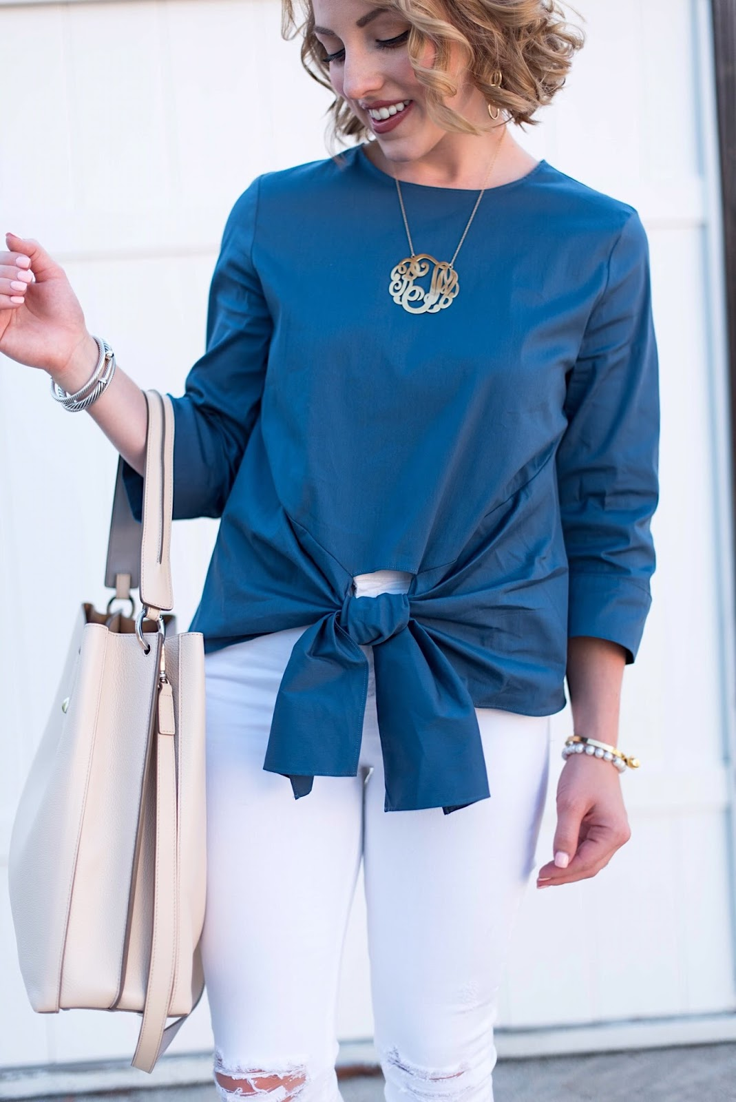 Tie Front Top - Click through to see more on Something Delightful!