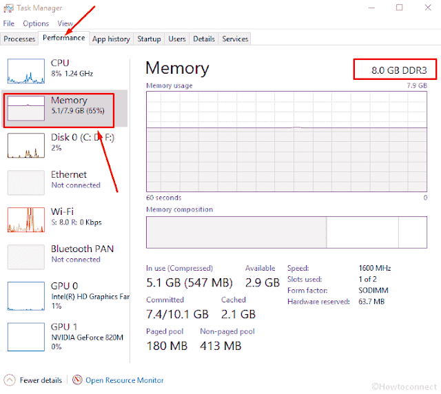 How to Identify Ram Type in Windows 10 like DDR, DDR2
