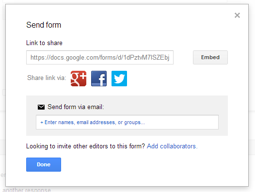 Send Form - Google Drive