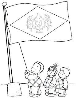 bandeira para colorir