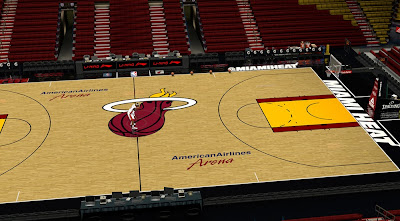 NBA 2K14 American Airlines Arena Court Mod